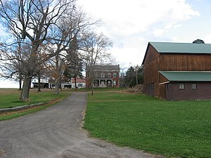 National Register of Historic Places listings in Lawrence County, Pennsylvania - Image: Mc Clelland Homestead centering on house