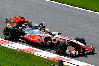 2010 Belgian Grand Prix - Lewis Hamilton won the race to take the drivers' championship lead from Mark Webber.