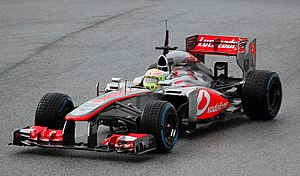 McLaren MP4-28 - Pérez in the MP4-28 during winter tests at Jerez, in 2013