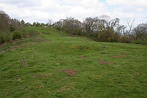 Warren (domestic) - A modern view of a medieval pillow mound at Stoke Poges, England