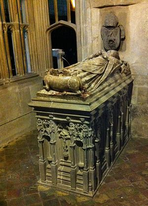 Abbot of Gloucester - Memorial to Abbot William Malvern in Gloucester Cathedral