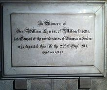Memorial to William Lyman in Gloucester Cathedral.JPG