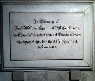 William Lyman (congressman) - Image: Memorial to William Lyman in Gloucester Cathedral