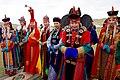 "Men and Women in Traditional Mongolian Dress Look on as Secretary Kerry Attends a ""Mini-Nadaam"" at a Field Outside of Ulaanbaatar (27506837976).jpg"