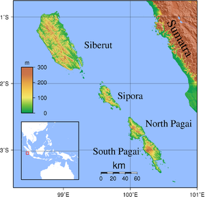 Sipura - Image: Mentawai Islands Topography