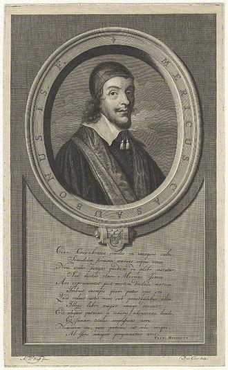 Méric Casaubon - Line Engraving of Meric Casaubon by Pieter Stevens van Gunst, after  Adriaen van der Werff, published 1709