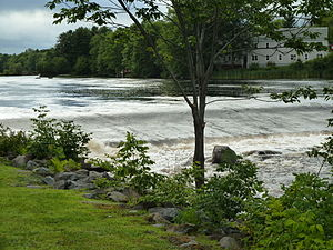 Milton, Nova Scotia - The Mersey river at Milton.