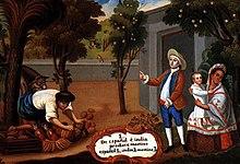 el mestizo era hijo de espa ol e india y era una de las castas m s