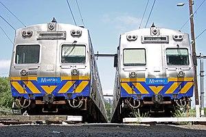 Hitachi (Australian train) - Two Hitachis in Metro Trains Melbourne livery