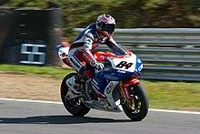 Michel Fabrizio a Brands Hatch 2007 con la Honda CBR1000RR nel 10º round del Mondiale SBK