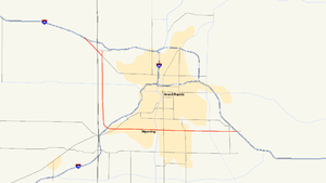 M-11 (Michigan highway) - Image: Michigan 11 map