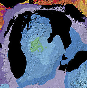 Lower Peninsula of Michigan - Geologic map of the Michigan Basin