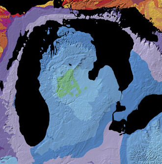 Lower Peninsula of Michigan - Geologic map of the Michigan Basin
