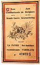 Mijn overgrootvader vrijwilliger 1914 - 1918 Charles De Souter, item 14.jpg