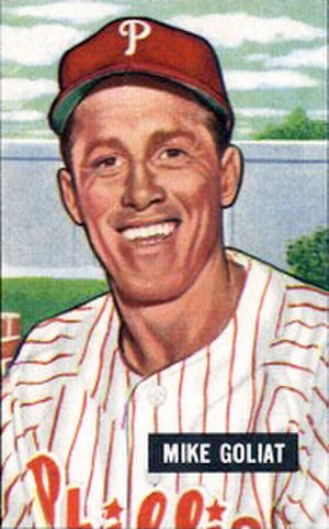 Mike Goliat - Goliat's 1953 Bowman Gum baseball card