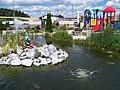 Milín-Buk, čerpací stanice, rybníček a dětské hřiště.jpg