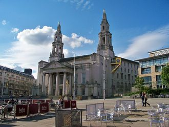 Millennium Square, Leeds - The square, looking towards Leeds Civic Hall