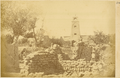 Minaret in the Muslim Quarter of Hami and Ruin of the Mosque Destroyed by Rebels in 1872. Hami, Xinjiang, China, 1875 WDL1929.png