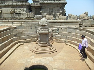 Shore Temple - Miniature Shrine in Shore Temple complex