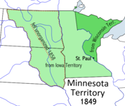 Map of Minnesota Territory 1849–1858