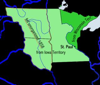 Minnesota Territory territory of the USA between 1849-1858