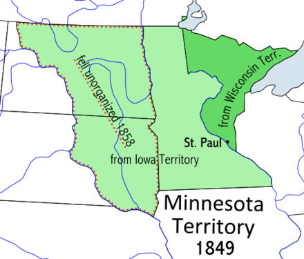 Map of Minnesota Territory 1849-1858 Minnesotaterritory.PNG