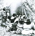 Miwok-Paiute ceremony in 1872 at current site of Yosemite Lodge.jpeg