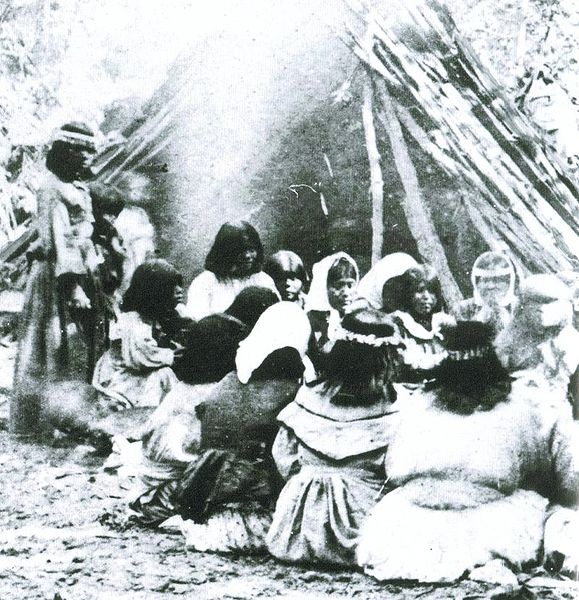 File:Miwok-Paiute ceremony in 1872 at current site of Yosemite Lodge.jpeg