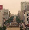 Miyagino-dori avenue viewed from the roof top car parks of Sendai station.JPG