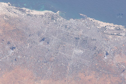 Mogadishu as seen from the International Space Station Mogadishu, Somalia.JPG