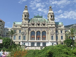 Opéra de Monte-Carlo - Seaside façade of the Salle Garnier, home of the Opéra de Monte-Carlo