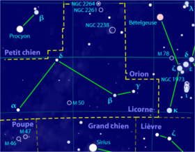 Image illustrative de l'article Licorne (constellation)