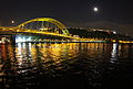 Monongahela River at night, Pittsburgh PA (8900615832).jpg