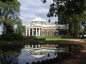 Monticello - Monticello and its reflection