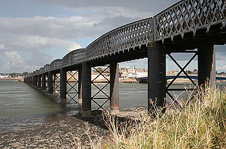 North British, Arbroath and Montrose Railway - The rebuilt South Esk Viaduct