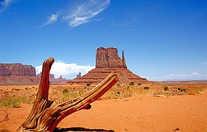 Monument Valley - Monument Valley from the valley floor