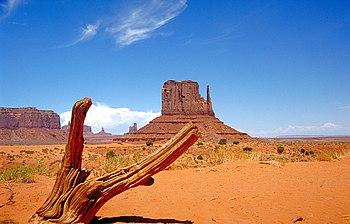 West Mitten Butte Monument Valley in northeastern Arizona