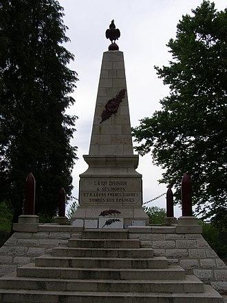 12th Infantry Division (France) - Monument to the division's dead at point C, crête des Éparges.