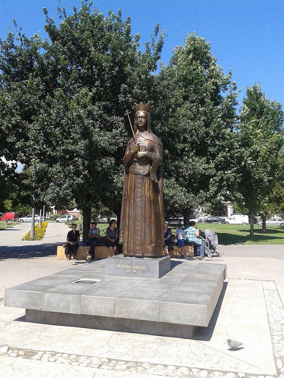 Monument to Milica Hrebeljanović in Trstenik