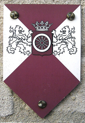 Rijksmonument - Monumentenschildje, shield for a designated municipality monument (Wageningen)