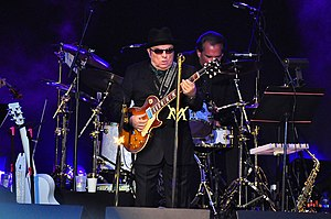 Van Morrison - Morrison performs at the Edmonton Folk Music Festival in 2010.