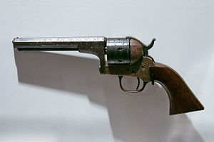 Teat-fire cartridge - Image: Moore's Single Action Belt Revolver