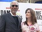 Morgan Freeman y Paz Vega en Madrid 01