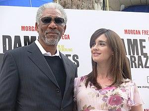 http://en.wikipedia.org/wiki/File:Morgan_Freeman_y_Paz_Vega_en_Madrid_01.jpg