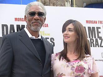 Morgan Freeman - Freeman at the 10 Items or Less premiere in Madrid with co-star Paz Vega