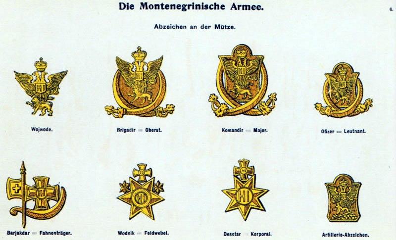 Moritz Ruhl - Montenegrinische Armee 1914 - Abzeichen