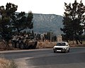 Moroccan soldiers and a Moroccan armored personnel carrier provide security coverage along Mostar Route 17 on the day of the Mostar general elections - DPLA - 8031c289fca977fe3798db42ee122dd9.jpeg