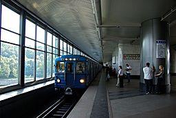 Moscow metro vorobjovy gory train Ez 20080905 087 (9737246178)