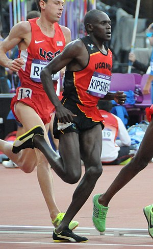 Moses Ndiema Kipsiro - Kipsiro in the 5000 m at the 2012 Summer Olympics.