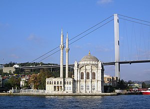 Balyan family - Ortaköy Mosque in front of the Bosphorus Bridge